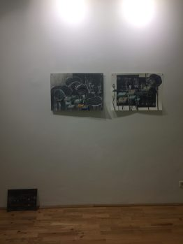 exhibition view Liquid Borders, Loft 8 Galerie Wien, 2016, photo: Miroslava Urbanová