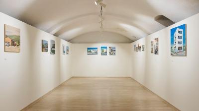 záber z výstavy Panel a burina, DOT Gallery Bratislava, 2017, foto: Jakub Hauskrecht