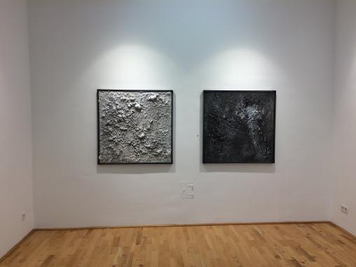 Ausstellungsansicht Strukturen. Berührungen, Loft 8 Galerie Wien, 2017, Foto: Miroslava Urbanová