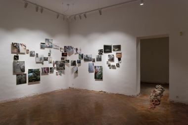 Michal Huba, exhibition view Deeper Down Than Inside, Medium Gallery, Bratislava, 2018, photo: Ján Šipöcz