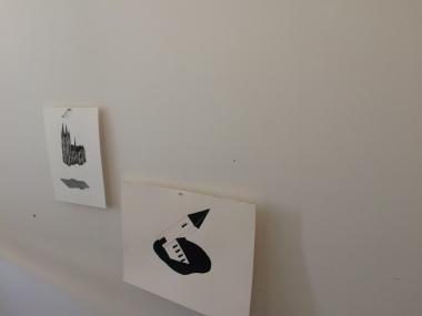 záber z výstavy Stajace vode, Remont gallery, Belehrad, 2017