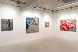 pohľad do výstavy Decalage, Galéria Čin Čin, 2018, foto: M. Deko pre Galériu Čin Čin