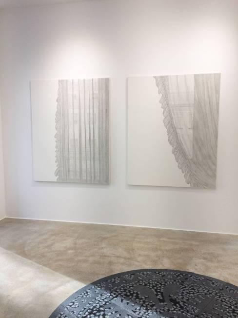 Marianne Lang, Ausstellungsansicht, An der Schwelle, Loft 8 Galerie Wien, 2018, Foto: Miroslava Urbanová
